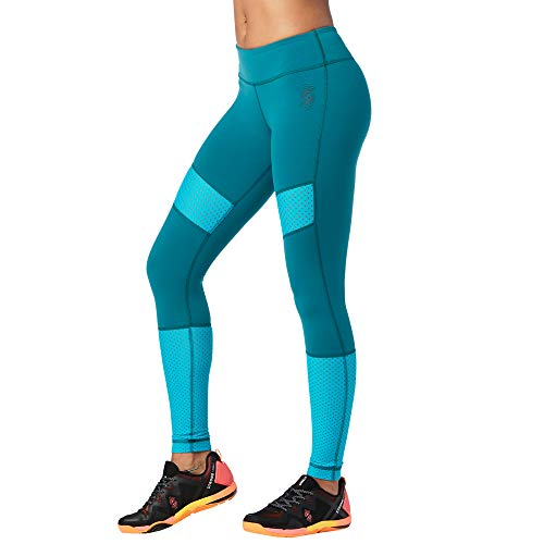 STRONG by Zumba Damen Women's Wide Waistband Athletic Performance Workout Leggings Caprihose, Tiefer Smaragd, XX-Large