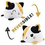 KUNSTIFY Gato de peluche reversible para niñas, mujeres, niños, bebés, para expresar el humor, regalo para novia, gato, tricolor
