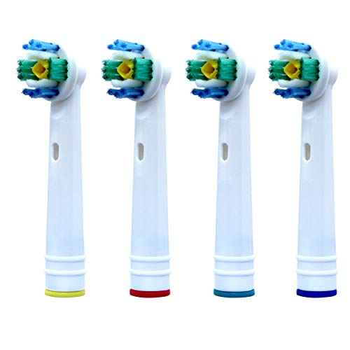 Compatible Oral B Toothbrush Heads, for Oral B Electric Toothbrush, Pack of 4 - Electric Toothbrush Heads Compatible with Oral B 3D White