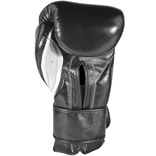 Cleto Reyes Hook and Loop Boxing Training Gloves, Black, 16 OZ