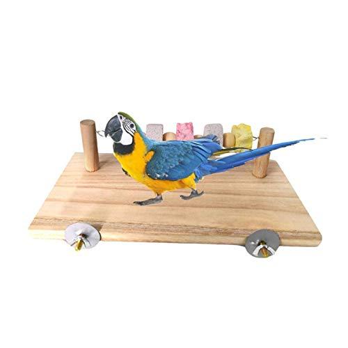 KTZAJO Juguete para picar loros, hámster, pájaros, pequeños animales, barra de trampolín, columpio para mascotas pequeñas (tamaño: talla única)