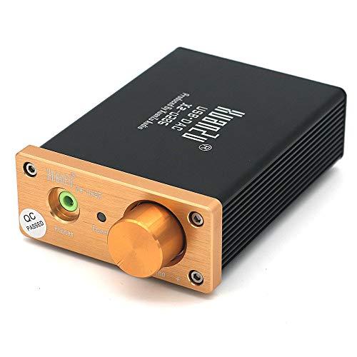 DollaTek Decodificatore USB DAC Da USB a Coassiale Fibra WM8740 Convertitore da digitale ad analogico stereo ad alte prestazioni Scheda audio esterna