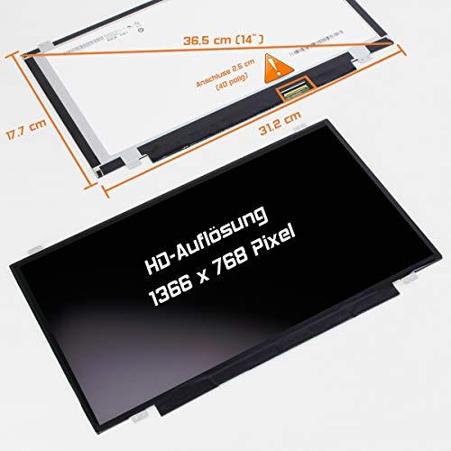 "Laptiptop 14,0\"" LED Display Screen matt Ersatz für Sony Vaio PCG-61111M HD 1366x768 40pin Bildschirm Panel"