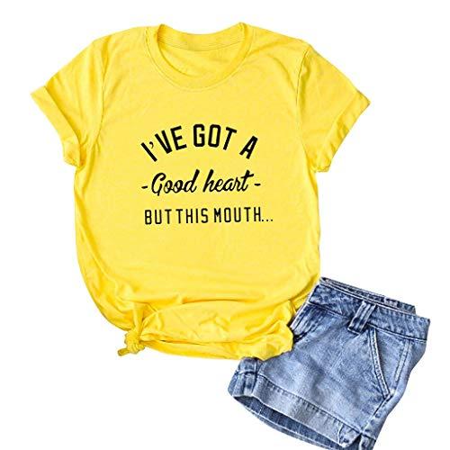 haoricu Men Women Summer Short Sleeve T Shirt Lovers Unisex T Shirt Casual Loose Summer Tee Tops Yellow