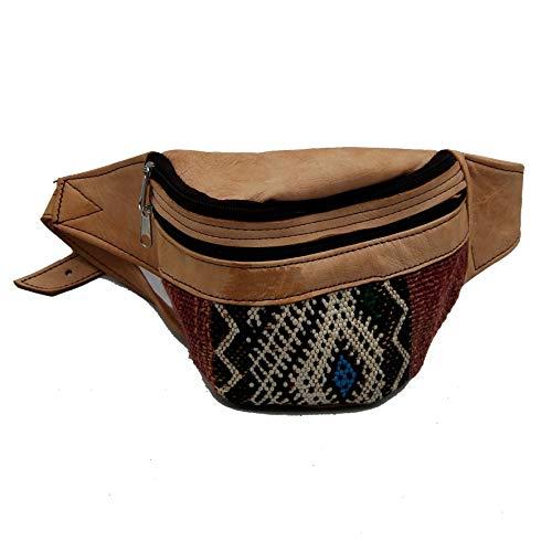 Etnico Arredo Riñonera auténtica piel africana marroquí cuero vintage 0705201118