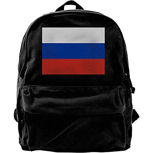 Yuanmeiju Computer-Rucksäcke, College-Schulbuchtaschen, klassischer Canvas-Tagesrucksack, Reiserucksack, Flagge Russlands Lässiger Schulterrucksack, Notebook-Laptoptasche