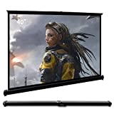 Cocar 50' Portable Projection Screen for Mini/Professional LED/LCD/DLP Projector Self Standing Pull-Out Style Indoor Outdoor Home Cinema - 4:3/16:9 Compatiable ¡