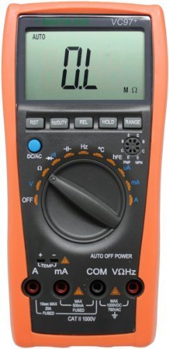 AideTek VC97+ Digital Auto Range Multimeter Tester Capacitor Amp Voltage AC DC Temp Diode Buzz Frequency by AideTek