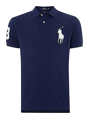 Ralph Lauren Kurzarm Herren Polo - Großer Reiter - Custom Fit (XL, Navy (Dunkel Blau))