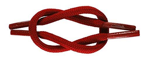 TZ Laces di Marca Lacci Corda/Rotondo 5mm Forte Scarpa Stivale Escursionismo Lacci - Rosso, 210cm