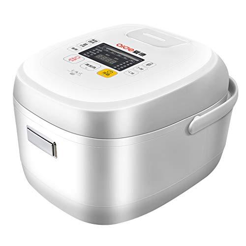 Witte 4 L rijstmaker met 24-uurs timer, IH elektromagnetische verwarmingstechnologie, inductieverwarmingssysteem rijstkoker met anti-aanbaklaag LED-scherm met touch-keuzemenu