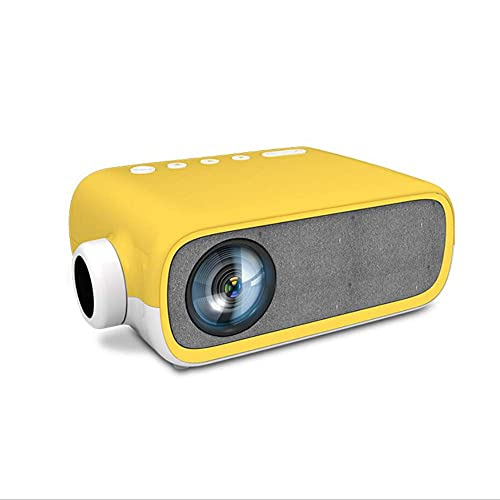 ZHAOHGJ Worth Having - Nuevo YG280 LED Mini Proyector 480 * 272 Píxeles con Interfaz HDMI/USB/AV/Audio PROYECCIÓN por por por Media Player, Negro (Color : Yellow)
