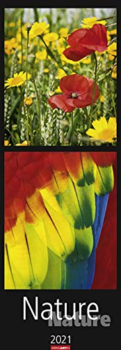 Nature Nature - Kalender 2021- vertikal - Weingarten-Verlag - Wandkalender - 33,8 cm x 97,8 cm