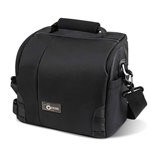 Eienn 一眼カメラケース デジタルカメラバッグ 防水 衝撃吸収素材 旅行 アウトドア撮影 ブラック