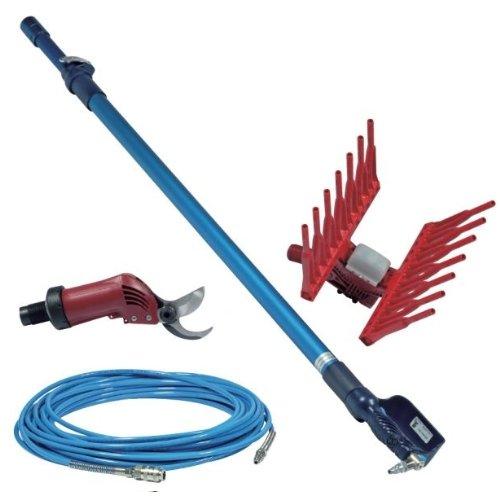 Speroni – Kit collecte + élagage long 4 pièces pneumatique Tube Tige/télescopique/abbacchiatore/cisaille pneumatique