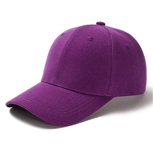1 Uds, Gorra Unisex Informal, Gorra de béisbol de Malla Lisa, Sombreros Ajustables para Mujeres, Hombres, Gorra de Camionero de Hip Hop, Gorra de papá-Dark Purple-54cm-60cm