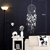 Ayhuir Campanas de mimbre de punto atrapasueños campanillas de viento nórdicos decoración del hogar colgante ornamento habitación de los niños decoración de la puerta de la sala de estar estatuillas -