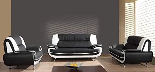 Mos 00022 Onyx Set 3-2-1 Sofa Couch in Kunstleder