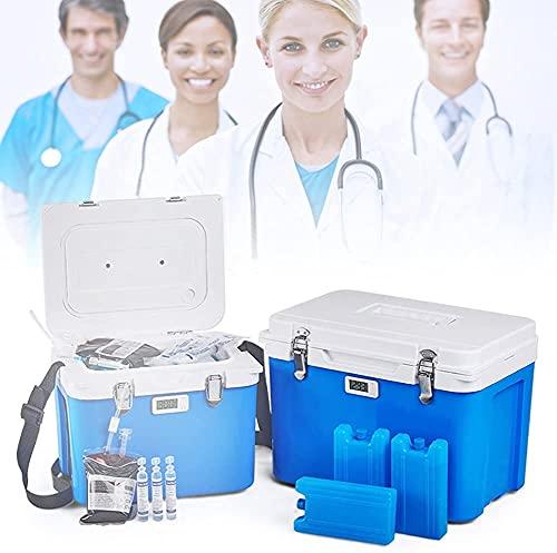 XFYLPA Refrigerador De Insulina Portátil, Refrigerador De Insulina De 13L Mini, Función De Aislamiento Frío Y Frío, con Retroceso, Fácil De Transportar para La Caja De Inicio Al Aire Libre