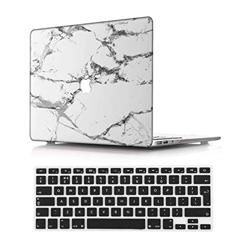 NEWCENT New MacBook Pro 13' Case,Plastic Ultra Slim Light Hard Case UK Keyboard Cover for Mac Pro 13 with/Without Touch Bar 2020 Release(Model:A2338 M1/A2289/A2251),Marble A 184