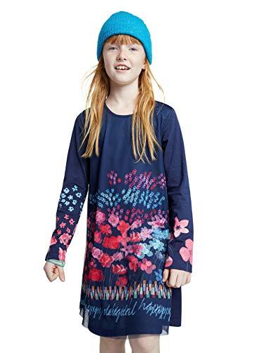 Desigual Girls Kids Tops SS20 Casual Dress, Blue, 9/10