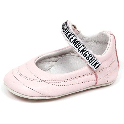 BIKKEMBERGS E6702 Ballerina culla Bimba pink Scarpa Leather Shoe Baby Girl [18]