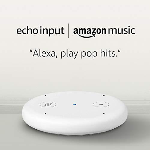 Echo Input - White and 4 months of Amazon Music Unlimited FREE w/ autorenewal
