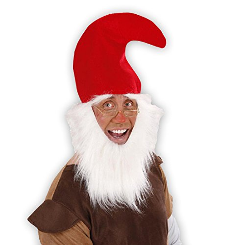 Red Dwarf Hat With Beard Gnome Hat Dwarf Gnome Hat Dwarf Fancy Dress Costume Accessory