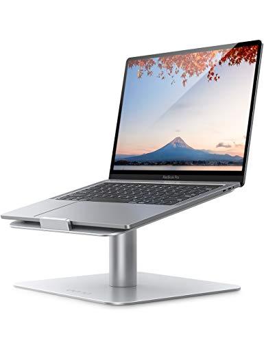 Amazon Brand – Eono Supporto per PC Regolabile, Laptop Stand Girevole 360°: Alluminio Ventilato Porta Compatibile per MacBook Air PRO, dell XPS, HP, Lenovo, Surface, Altri 10 ~17  Notebooks - Argento