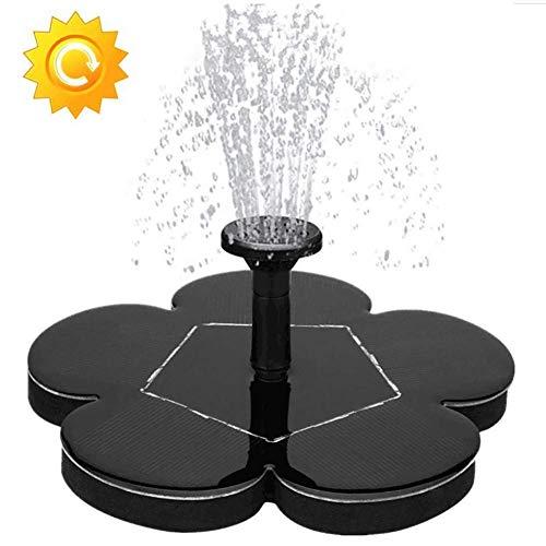 Vogelbad Solarbrunnen-Pumpe (verbessert), Polygon Garden Floating-Solarwasser-Pumpe, mit 4 Düsen for Teiche, Schwimmbäder, Gärten, Aquarien, Springbrunnen, Gartendekoration ZHNGHENG