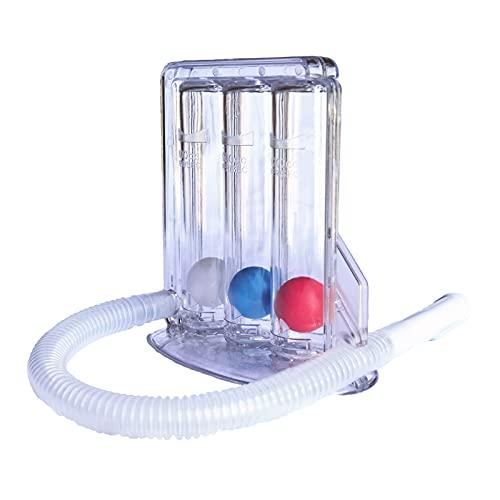 Bilykoo Volumetric Exerciser Inspiratory Trainer Breathing Exercise Device 3 Ball Triflow