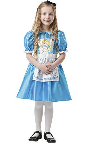 Alicia en el Pas de las Maravillas - Disfraz de Alicia para nia, infantil 7-8 aos (Rubies 641005-L)
