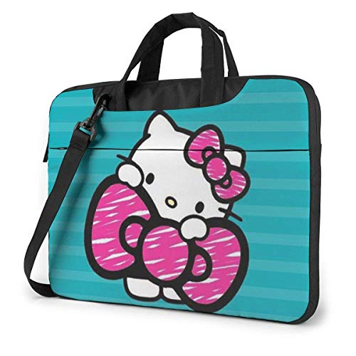 14 Inch Laptop Bag Kawaii Hello Kitty Laptop Briefcase Shoulder Messenger Bag Case Sleeve