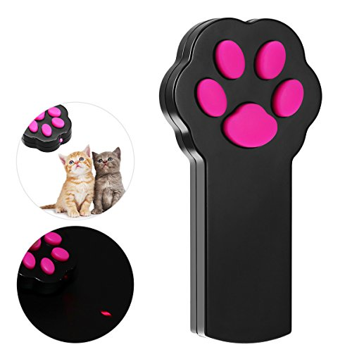 UEETEK Cat Toy Catch Interactive LED Light Beam Pointer Jouet pour animaux de compagnie Exercise Scratch Training Tool