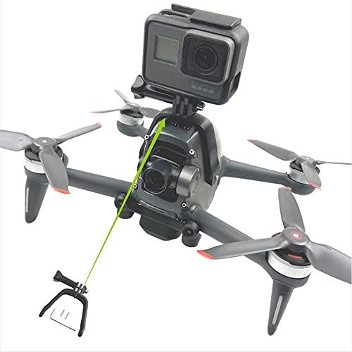 Tmom Soporte de expansión para DJI FPV conexión panorámica cámara de acción accesorios para GoPro Hero 9 8, drones soporte para conexión de cámara superior