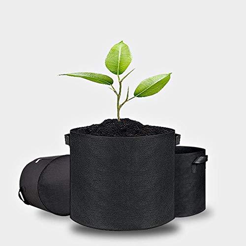 Tuin groeit stoffen zak met zwarte stift 3/5/7/10 gallons winkels aardappelplanten handvat kuipplant,5 liter