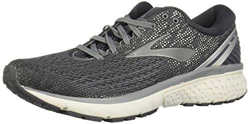 Brooks Mens Ghost 11 Running Shoe - Ebony/Grey/Silver - D - 14.0