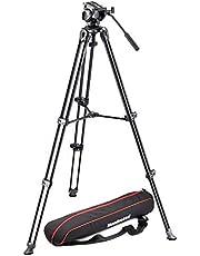 Manfrotto MVK500AM, lekki system wideo, głowica w zestawie, profesjonalny statyw, kompatybilny z wymiennymi obiektywami i korpusami HDSLR, aluminium