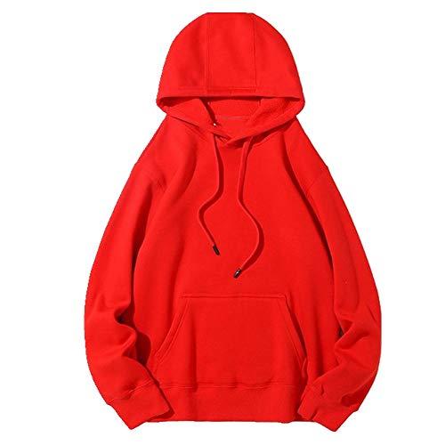 Sudadera con capucha para mujer, de algodón puro, con capucha, de forro polar, de forro polar, para otoño e invierno, cálida sudadera con capucha para mujer
