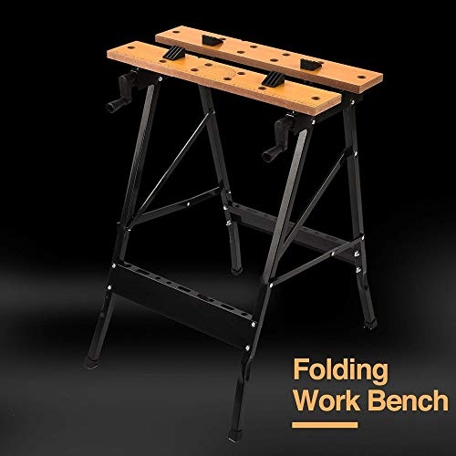 ZotoyaShop Bench Folding Portable Work Table Tool Garage Repair Workshop Repair 70KG Capacity Decker Workmate Workbench Project