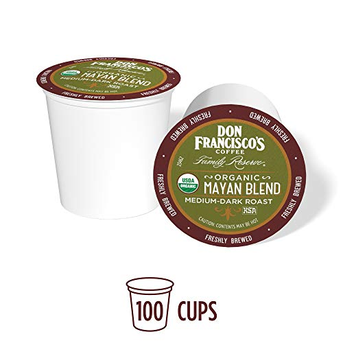 Don Francisco's Organic Mayan (100 Count) Single-Serve Coffee Pods, Compatible with Keurig K-Cup Brewers (Same Day Delivery San Francisco To Los Angeles)