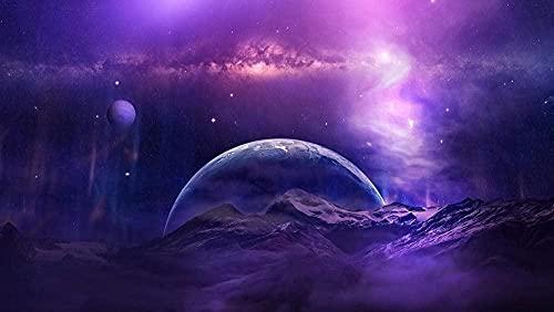 Puzzle 1000 Piezas Montañas y Planetas Cósmicos Rompecabezas de Papel Clásico Rompecabezas Difícil para Adultos Adolescentes DIY Rompecabezas Educativos Intelectuales Juguete de Regalo 38X26Cm