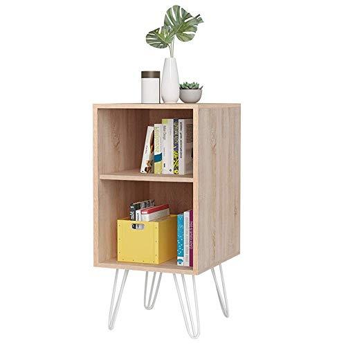 NBVCX Möbeldekoration Retro-Stil Beistelltisch Nachttisch Nachttisch oder Telefontisch mit 2-stufigen Regalen 40x44,5x80 cm
