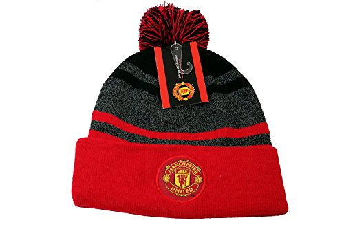 Manchester United FC Authentic Official Licensed Product Soccer Beanie (Red black)