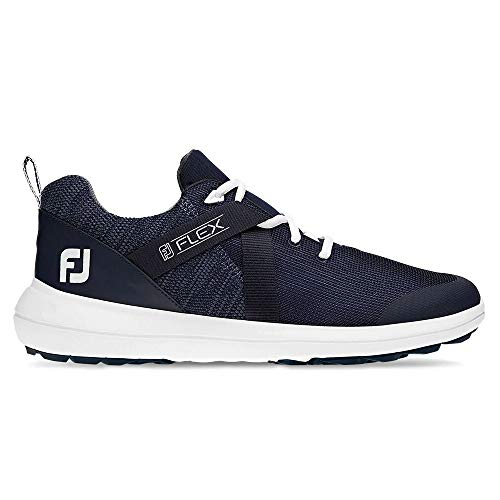FootJoy Flex Spikeless Golf Shoes - Navy - 7.5 X-Wide