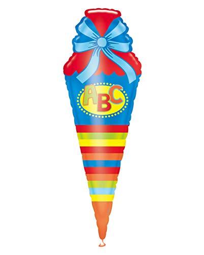 Horror-Shop ABC Schultüte Folienballon als Geschenkidee für Schulanfänger | 35 x 111 cm