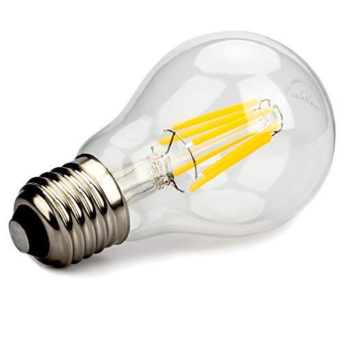 JiuRui LED Strahler Solar Power Licht und Off Grid, 12V führte Glühlampe A60 E27, 24V 36V A60 6W warmes Licht 2700K Antique Bulb AC / DC12-36V for RV Wohnmobil-Marine