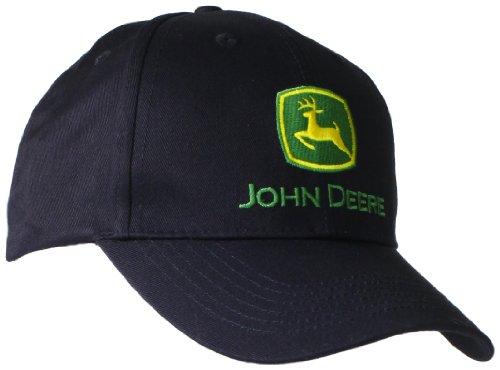 John Deere Baseballmütze mit gesticktem Logo, Einheitsgröße, für Herren, Schwarz
