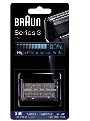 Braun 31B foil Rasoire Replacement grille 31B / sans bloc coudeau SERIES 3 pour 5736 5739 5610 5612 5770 5775 5874 5877 Contour360 Contour380