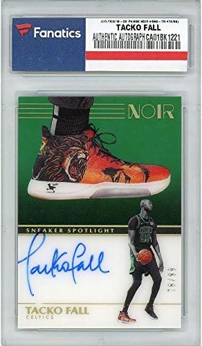 Tacko Fall Boston Celtics Autographed 2019-20 Panini Noir Sneaker Spotlight #SNS-TR #78/99 Card - Panini - Autographed NBA Sneakers